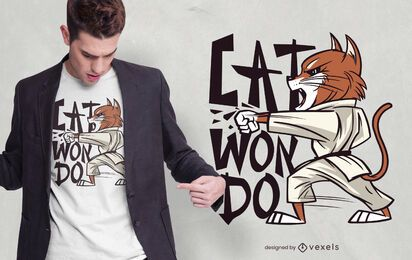 Taekwondo Cat T-shirt Design