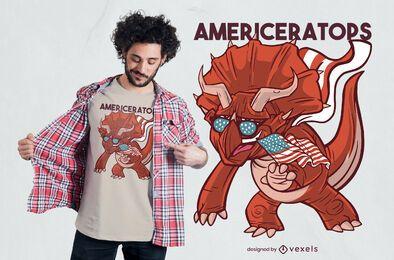 Diseño de camiseta American Triceratops