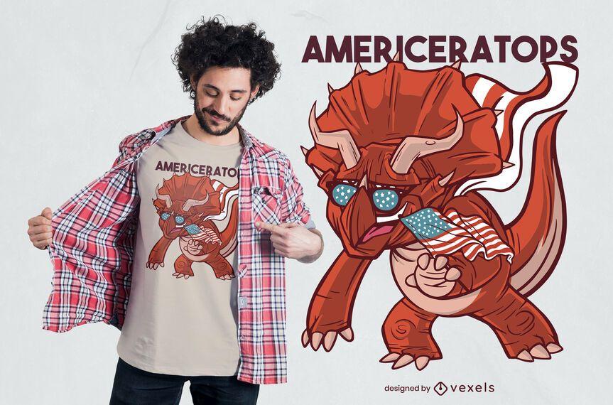 American Triceratops T-shirt Design