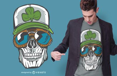 Lucky Skull T-shirt Design