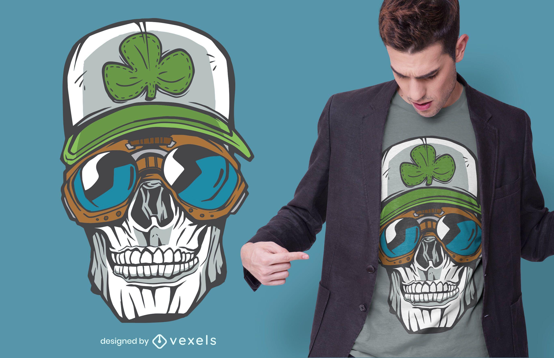 Diseño de camiseta Lucky Skull