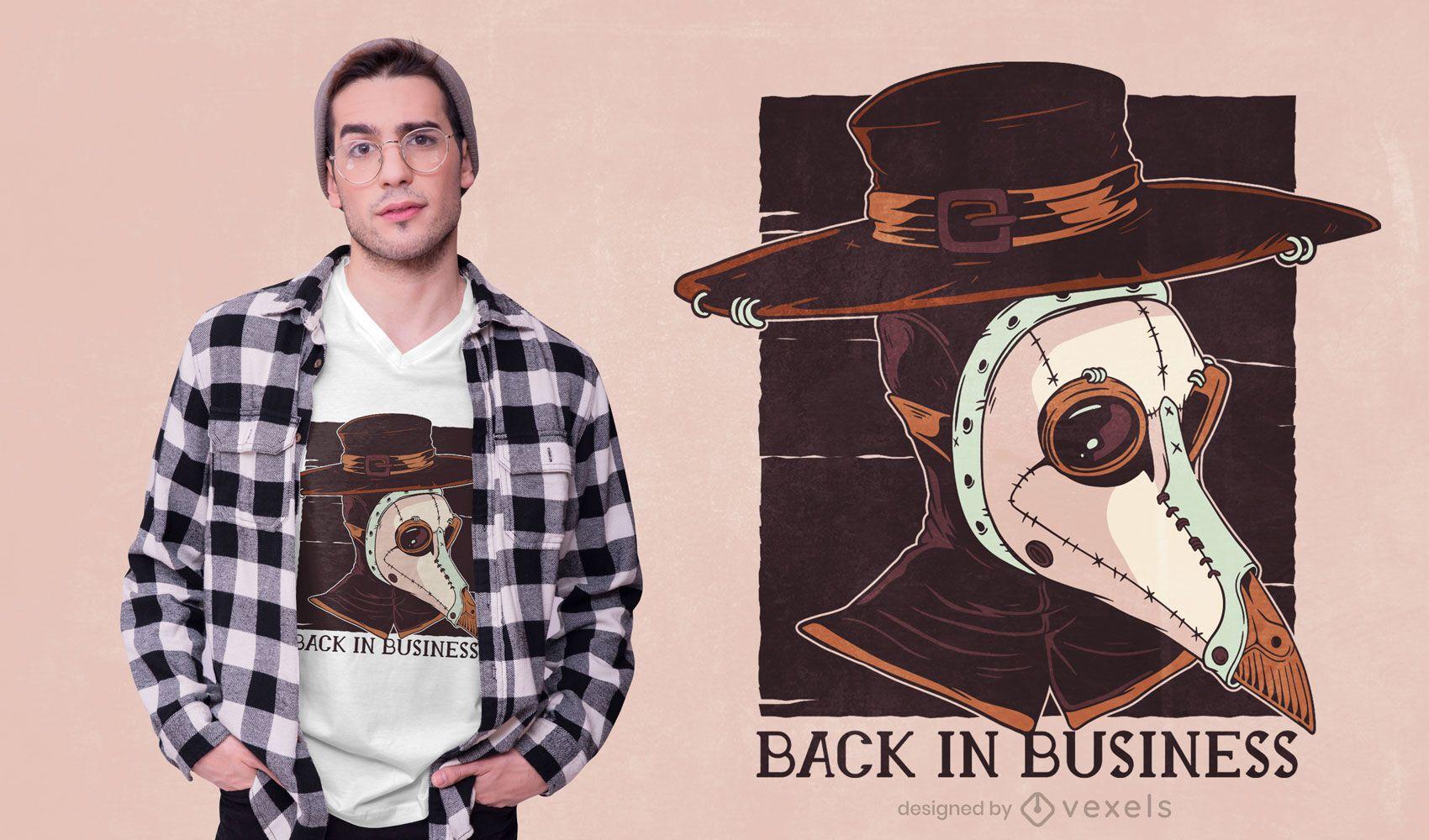 Diseño de camiseta Plague Doctor Text