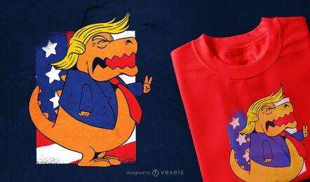 Diseño de camiseta Trump T-rex