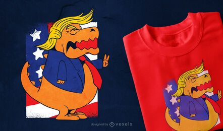 Trump T-rex T-shirt Design