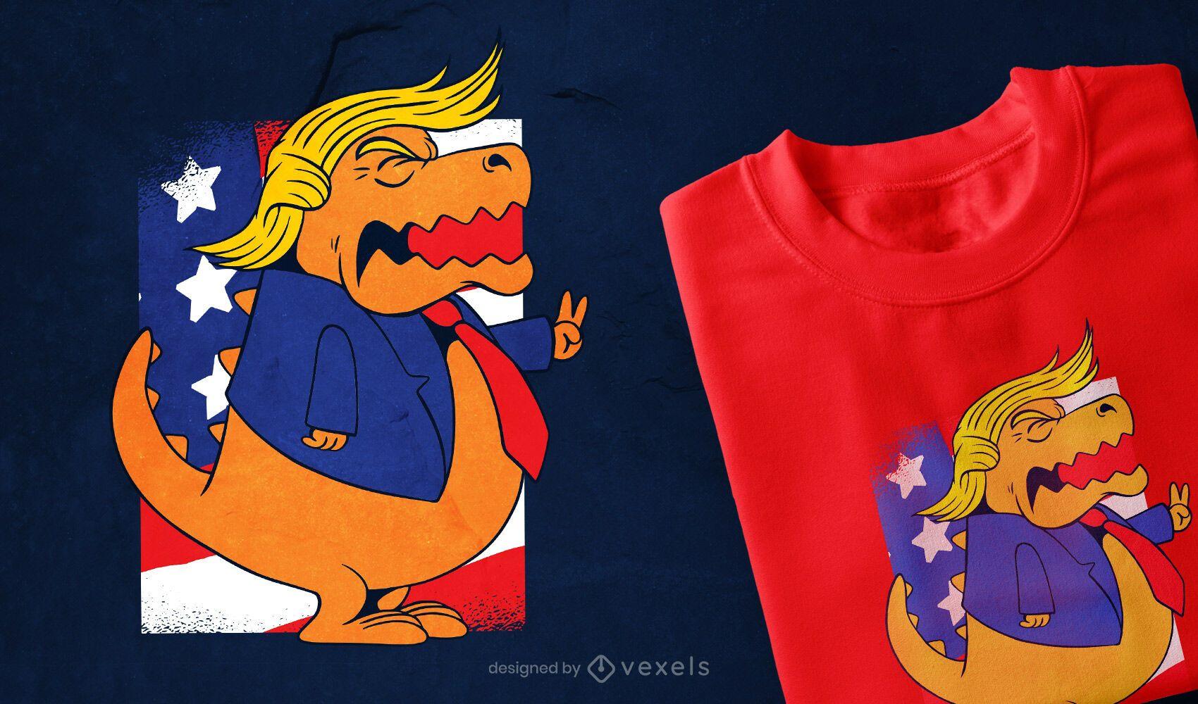 Dise?o de camiseta Trump T-rex