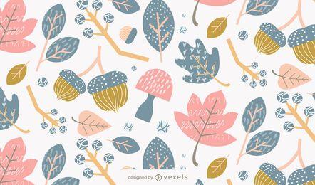 folhas caem desenho padrão