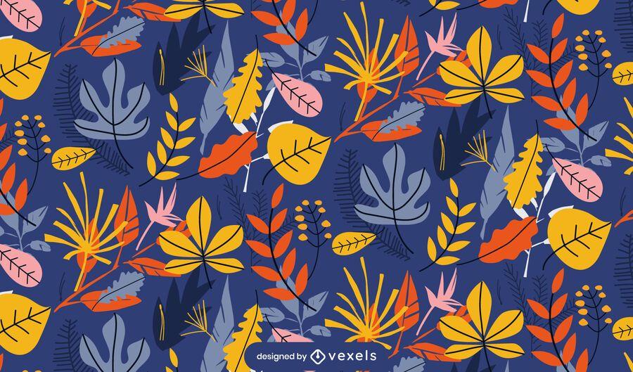 fall leaves pattern design