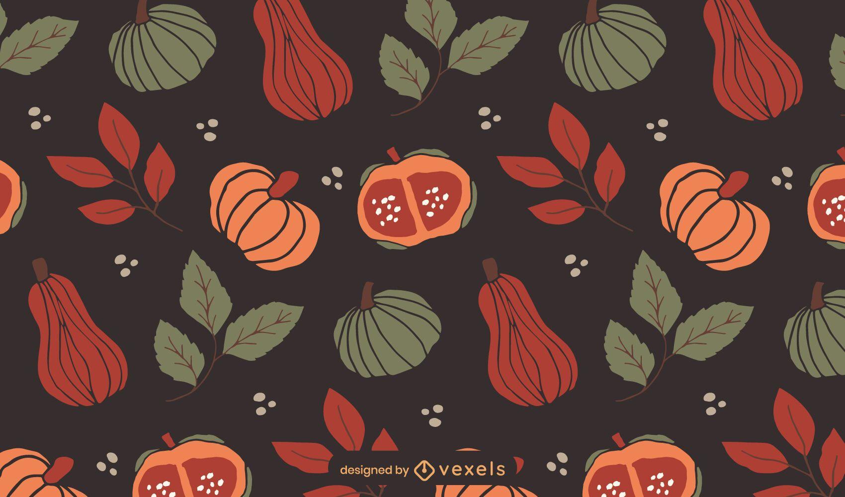 Pumpinks butternuts patrón de diseño