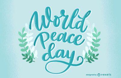 Desenho de letras do Dia Mundial da Paz