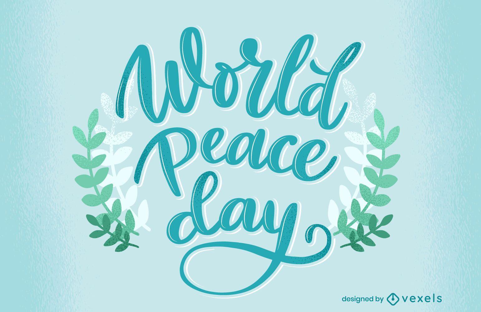 Dise?o de letras del d?a mundial de la paz