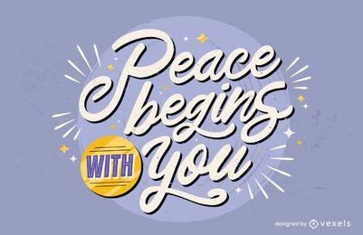 Frieden beginnt mit Ihrem Schriftzug