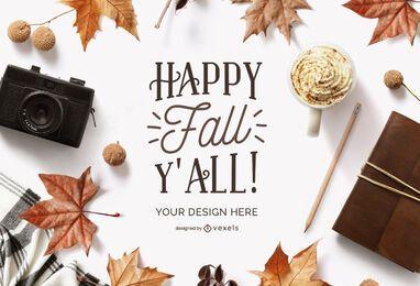 composição de maquete de outono