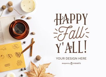 fall elements mockup composition