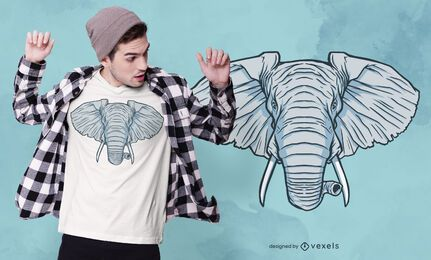Elephant Head T-shirt Design