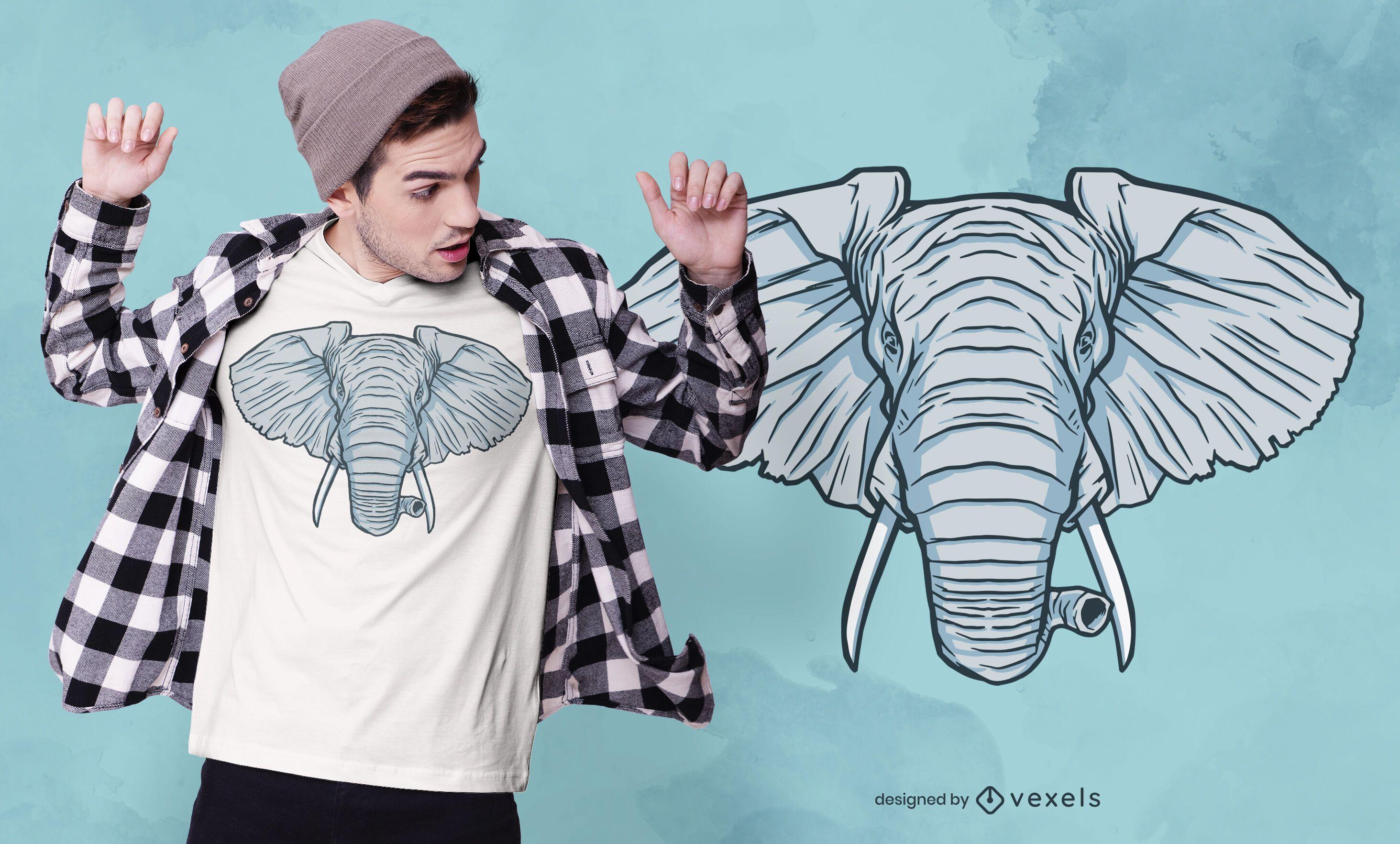 Elephant Head T-shirt Design