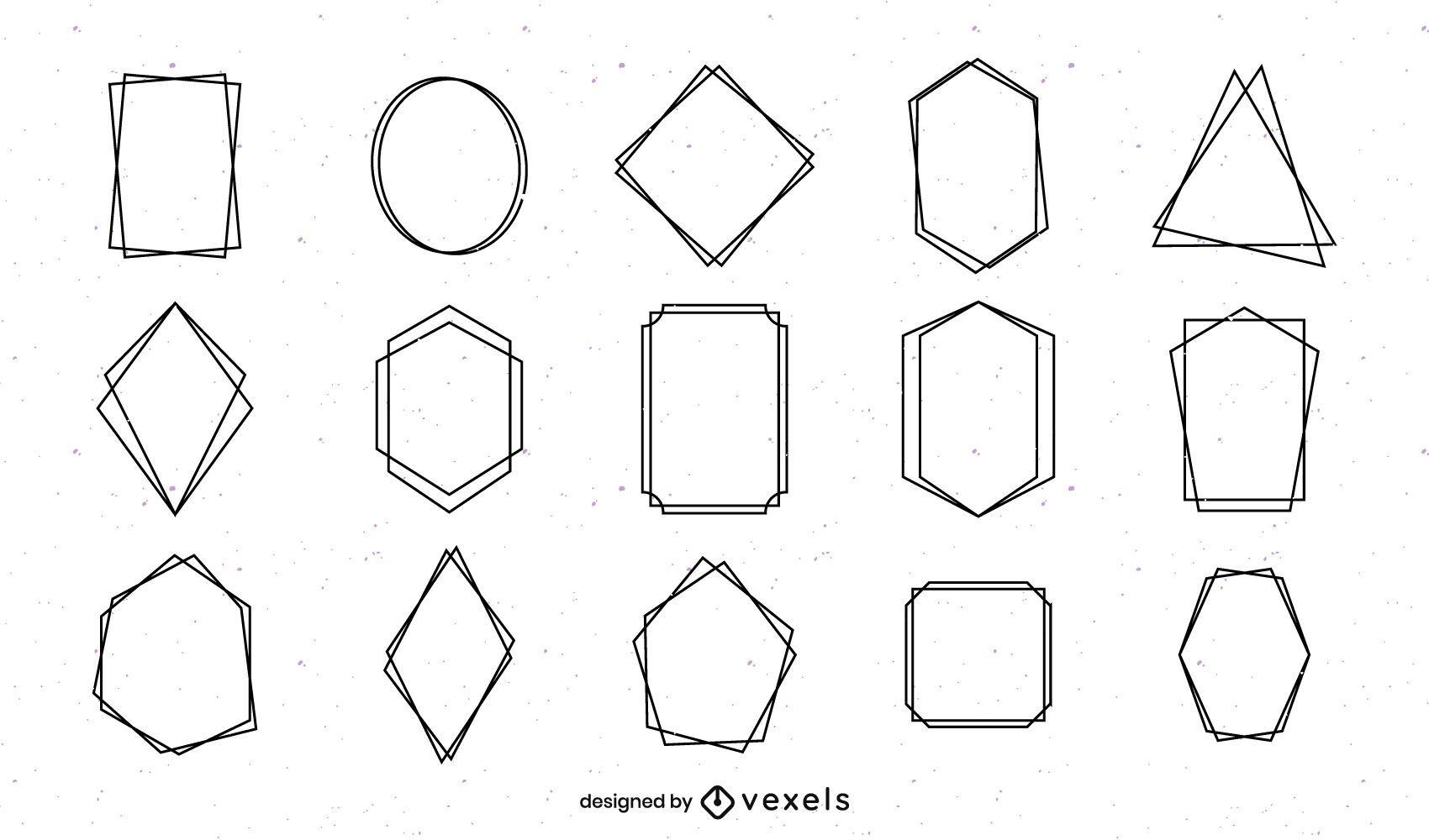 Pacote de moldura simples geométrica