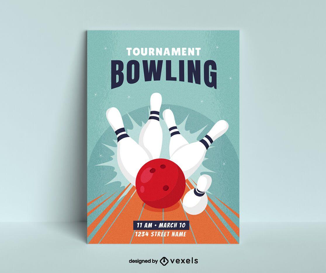 Bowling Tournament Poster Design