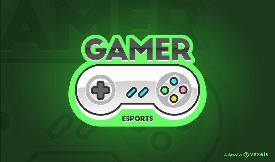 Diseño de Logo de Controlador de Juegos