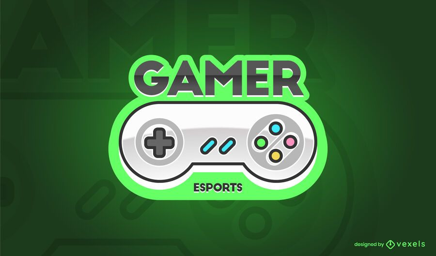 Diseño de logotipo de controlador de juegos