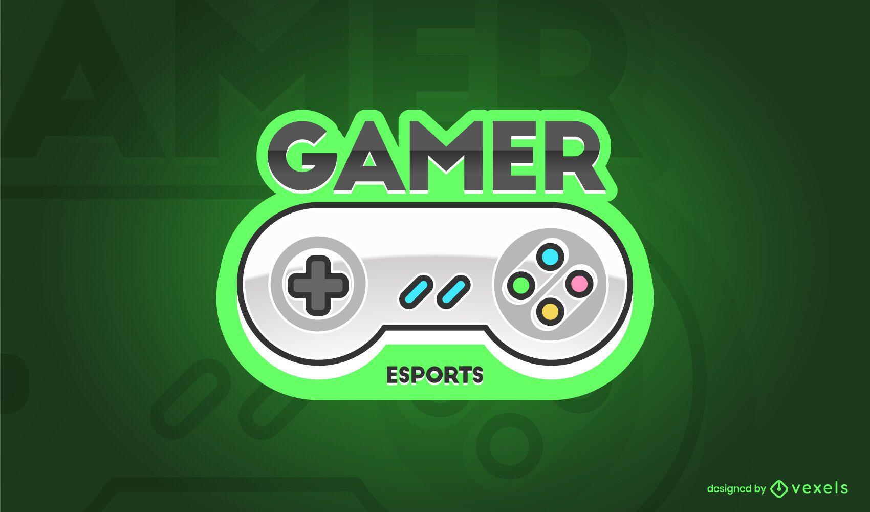Dise?o de Logo de Controlador de Juegos