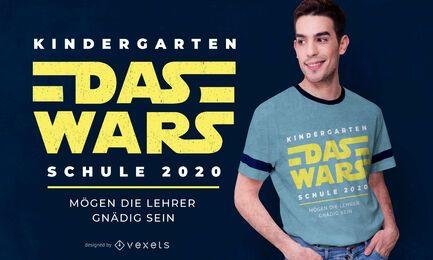 Diseño de camiseta alemana de School Wars