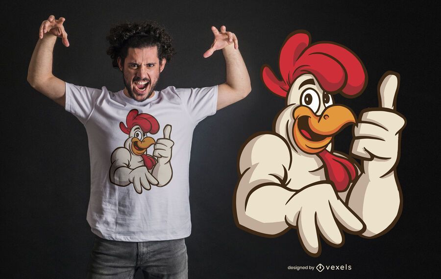 Rooster Approves T-shirt Design