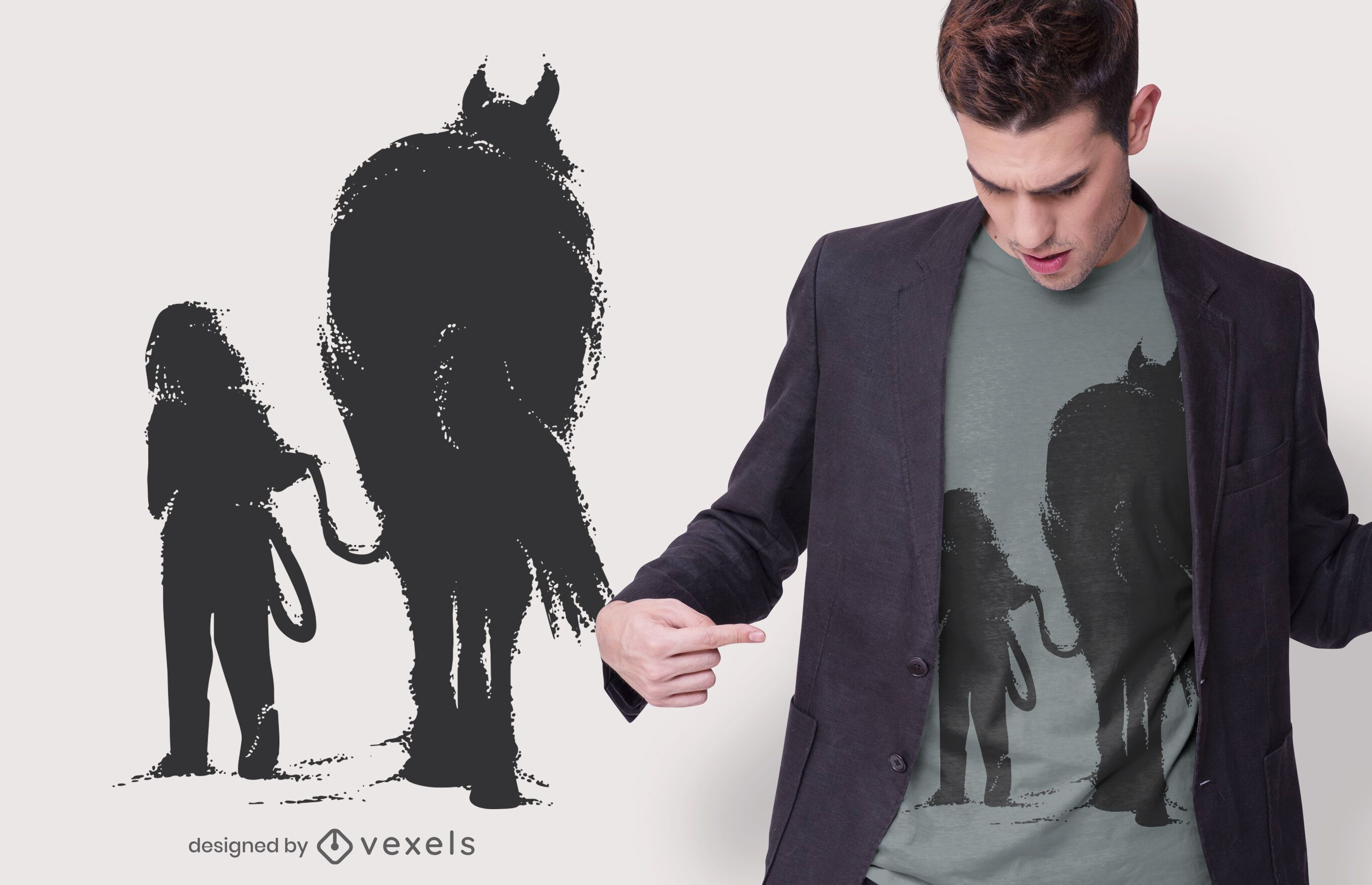 Girl with Horse T-shirt Design
