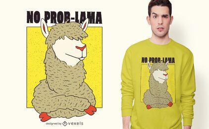 Diseño de camiseta No Prob-Llama