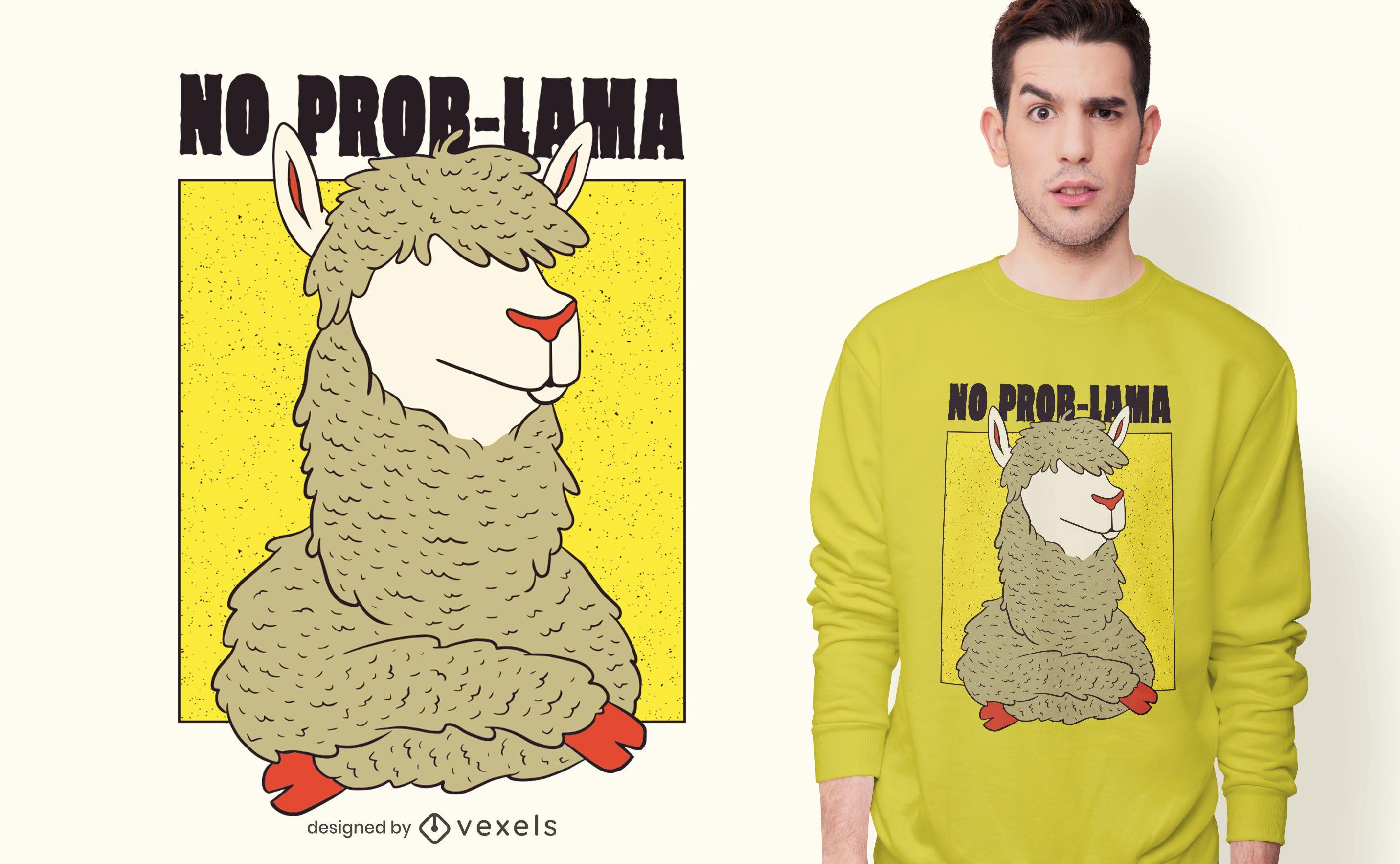 Sin diseño de camiseta Prob-Llama
