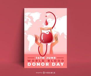 Diseño de carteles de donantes de sangre