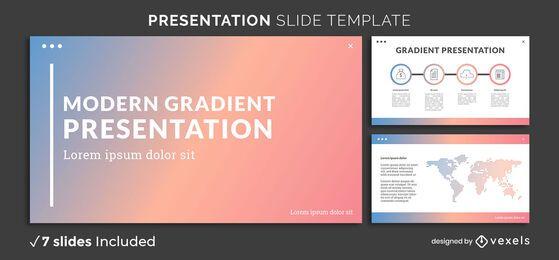 Modelo de apresentação de gradiente moderno
