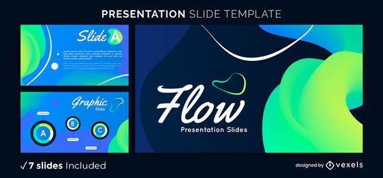 Modelo de apresentação de fluxo gradiente