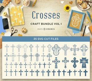 Paquete de manualidades de cruces religiosas Vol1