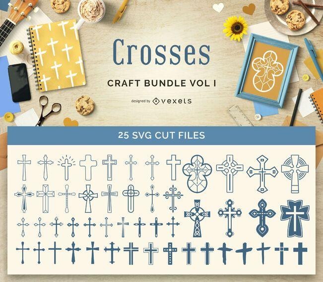 Religious Crosses Craft Bundle Vol1