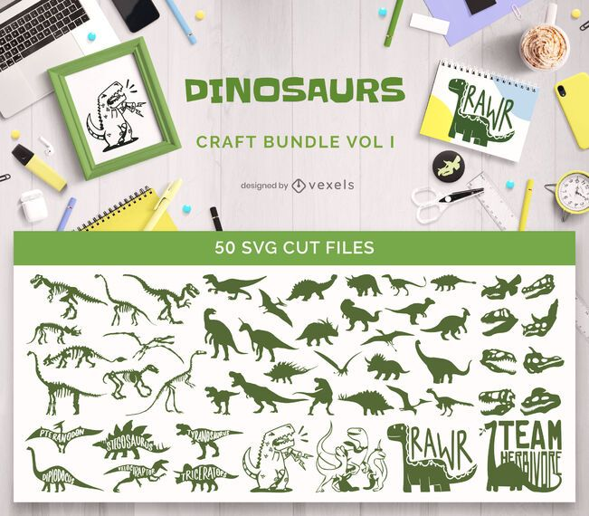 Paquete de manualidades de dinosaurios Vol1