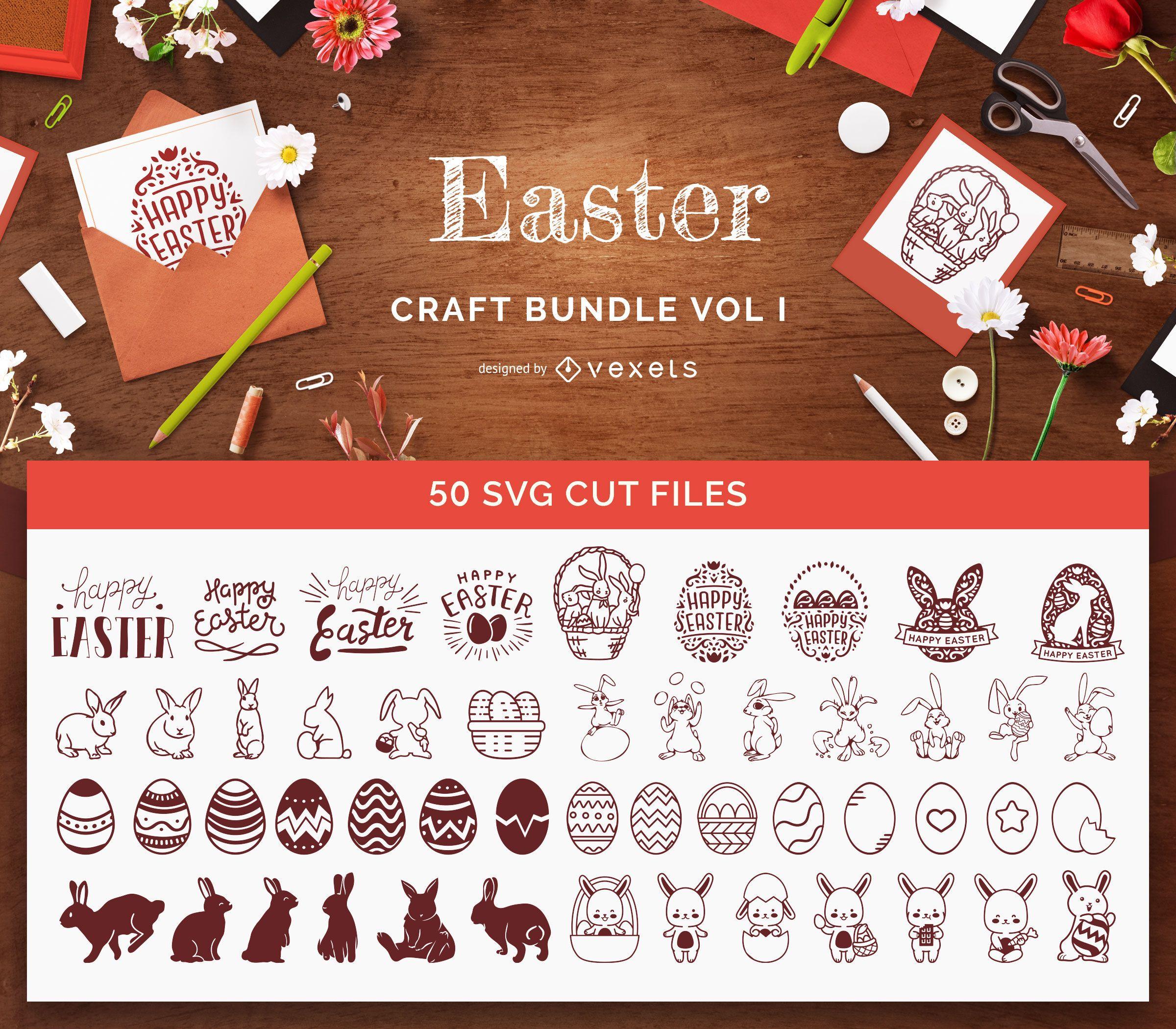 Paquete de manualidades de Pascua Vol1