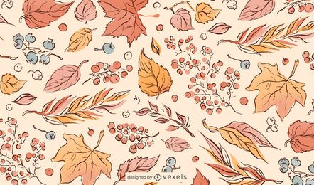 Fall Leaves Illustration Pattern