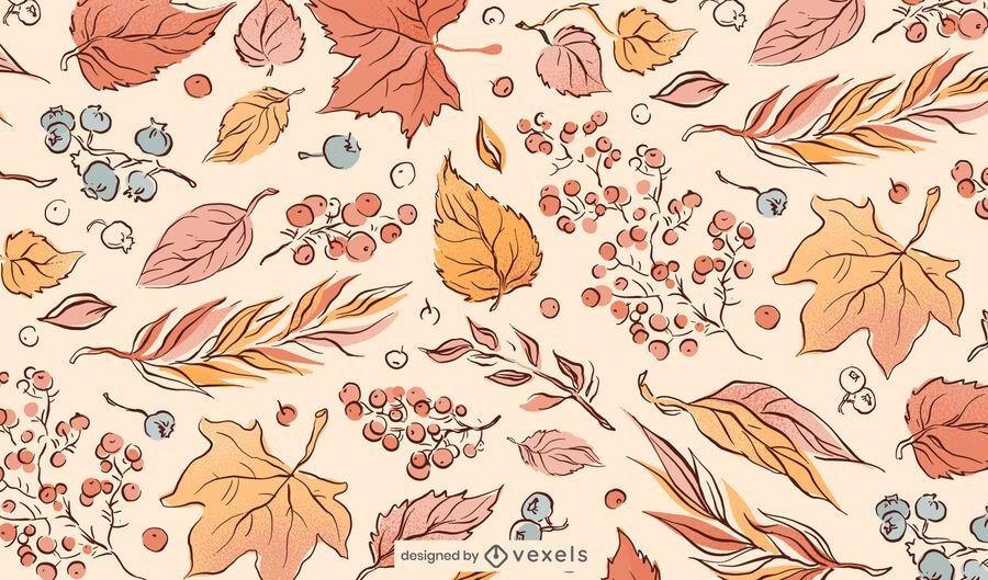 Fall Leaves Illustration Pattern