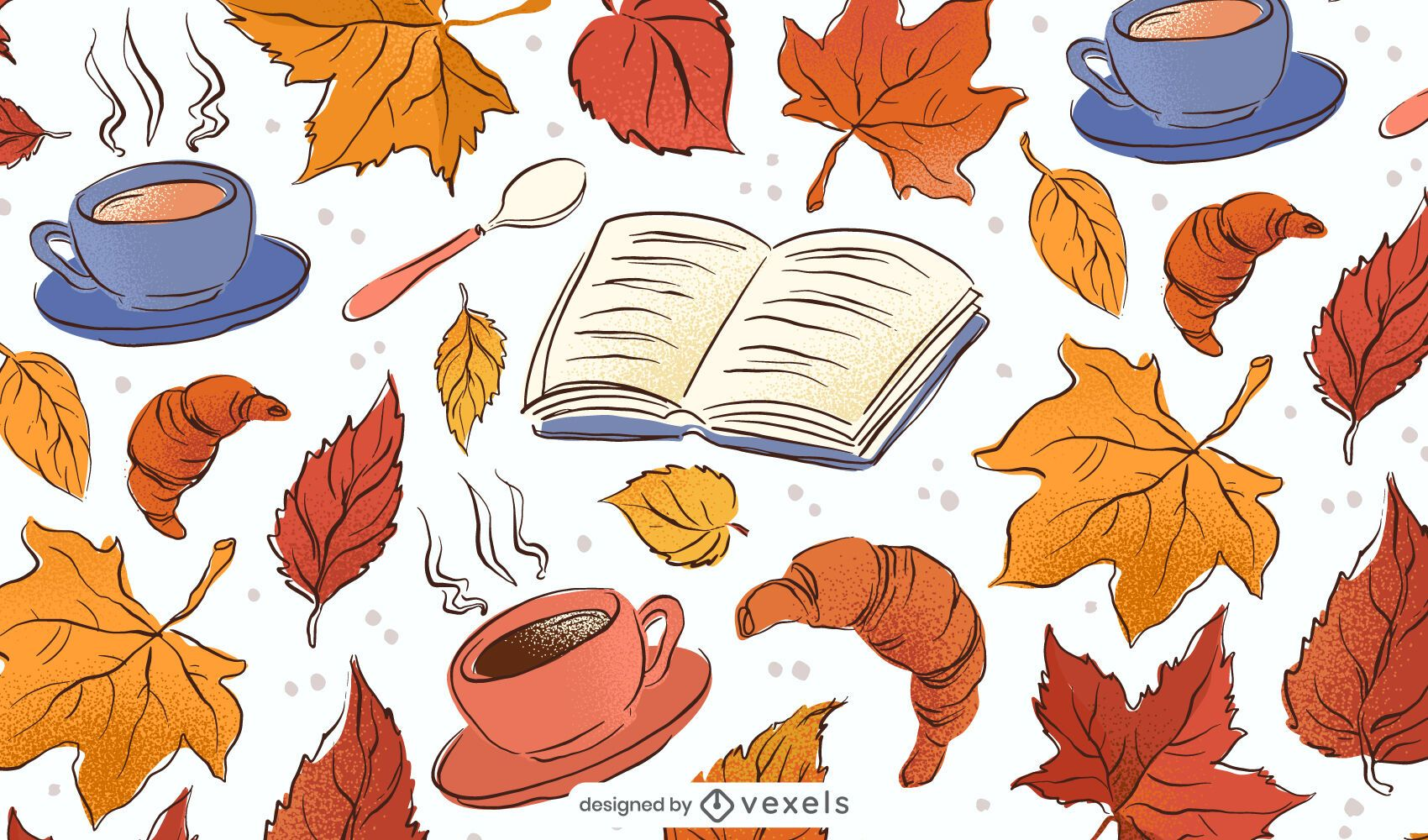 Fall Drawings Background Design