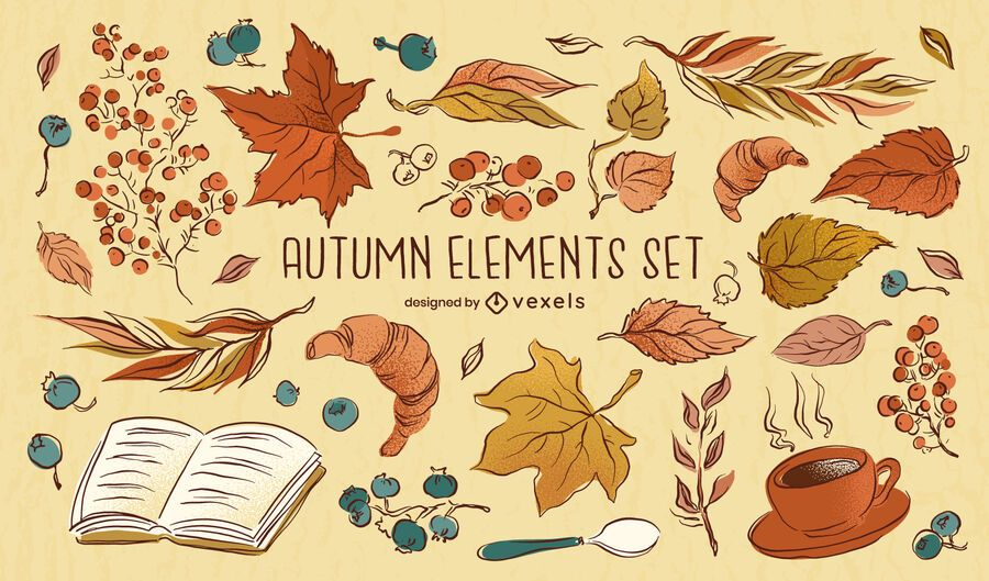 Autumn Elements Drawing Set