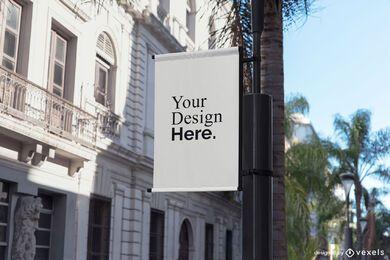 maquete de banner de rua