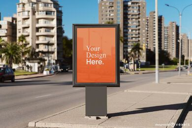 vertical street billboard mockup