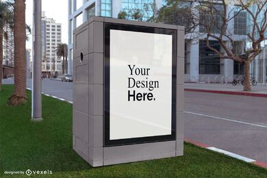 square street billboard mockup