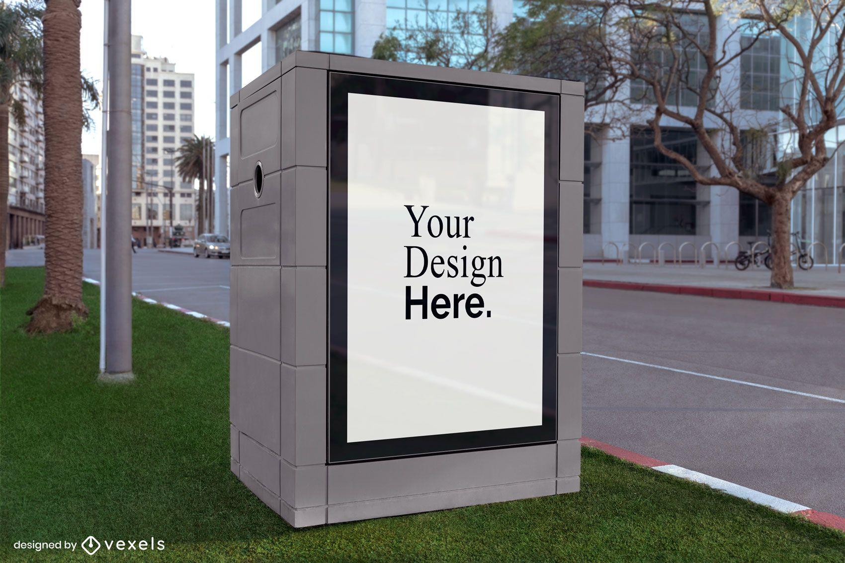 square street billboard mockup