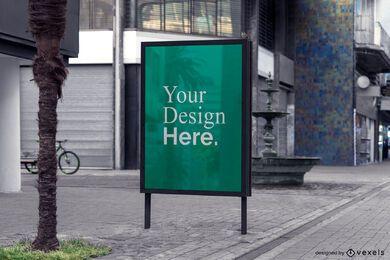 maqueta de publicidad de cartelera callejera
