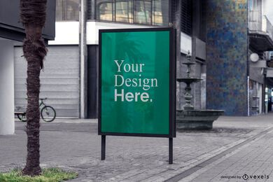 street billboard advertising mockup