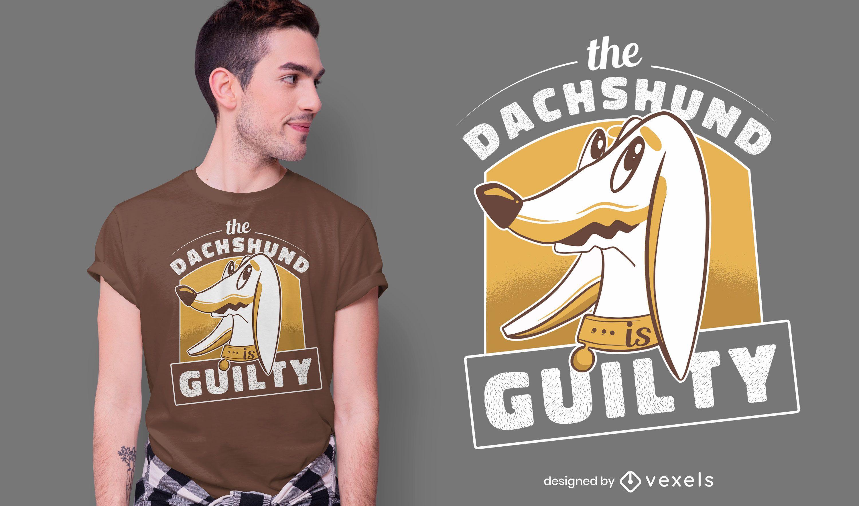 Guilty dachshund t-shirt design