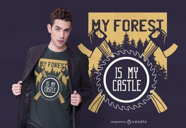 Diseño de camiseta de mi bosque