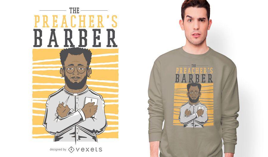 Preacher's barber t-shirt design