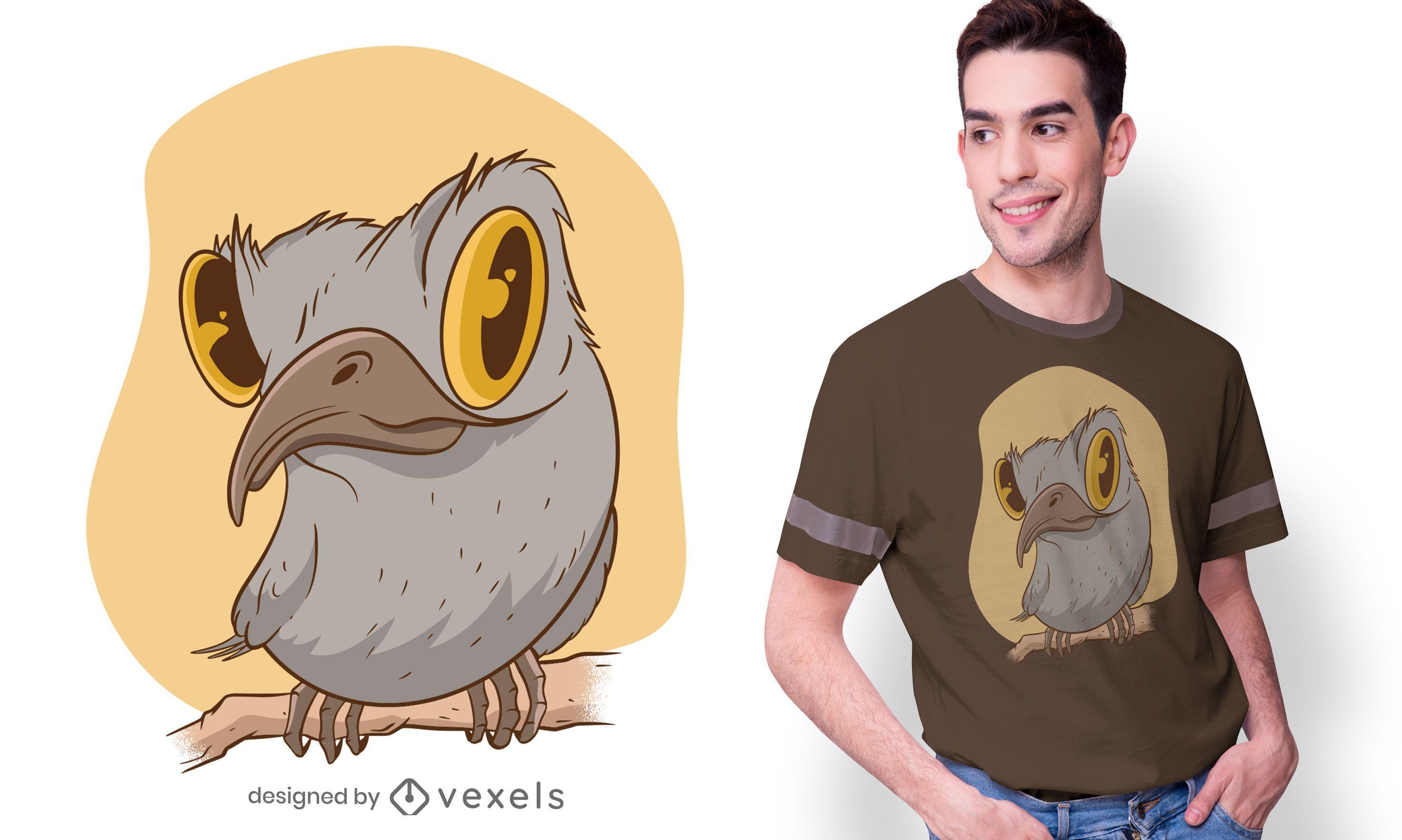 Urutau bird t-shirt design
